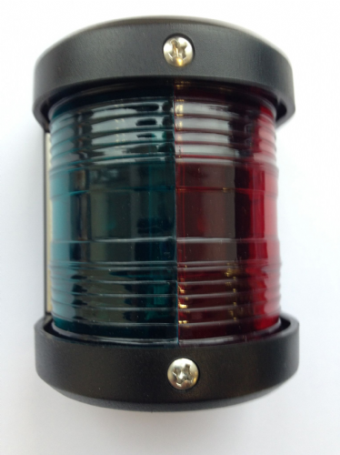 LED Bi-Colour Navigation light 12v up to 12m Boats Red and Green (1)